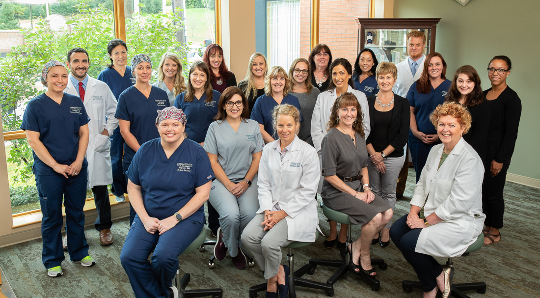 Dermatology and Skin Health Staff Group Portrait